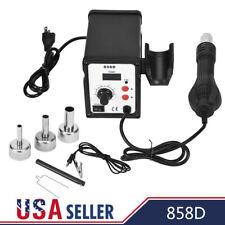 858D 700W Electric Hot Air Heat Gun Soldering Station Desoldering Tool LED USA