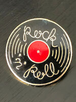 Vintage Collectible Rock n Roll Record Colorful Metal Pin Back Lapel Pin Hat Pin