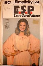 Vintage Pullover Pheasant Dress and Shaw Simplicity 8507 knits only sz 10 12 14