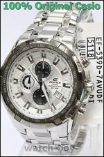 EF-539D-7A White Casio Watches Edifice Chronograph 100m Analog Stainless Steel