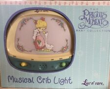 New in Box Precious Moments Musical Crib Light Girl & Goose Luv n' Care