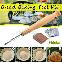 Set Bread Baker Baking Blade Lame Slashing Tool Kit Dough Cutter Accessories New