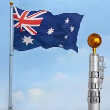 Aluminum Telescoping Flagpole Australian Flag Pole Top Ball Flag Kit 6.1m