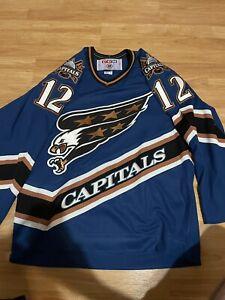 CCM Washington Capitals Peter Bondra NHL Hockey Jersey Screaming Eagle Blue M