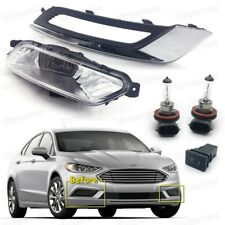 1Set Fog lights Cover Grille Switch Fog Lamp Assembly for 2017 2018 Ford Fusion