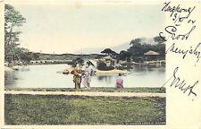 Japan, Kroakuen Garden in Okajama, Marine-Schiffspost nach Hagenow, 1904