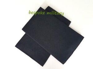 EPAULETTES CUSTOM SLIDERS PLAIN BLACK PAIR - MEDICAL/SECURITY/BUSINESS/PILOT