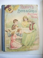 PANSY'S BOYS AND GIRLS PICTURE BOOK HC 1895 Grace Livingston Hill Christian