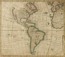 1769 Map of America Isaak Tirion