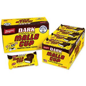 Boyer DARK Mallo Cups Dark Chocolate Whipped Creme Center 24ct FREE SHIPPING