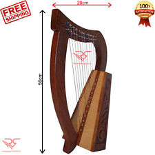 CELTIC Irish Harp 12 String Sheesham Wood │ FREE [Carry Bag & Tuning Key] by RS