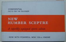 Humber Sceptre Mk II Original UK Facts For The Salesmans Book Pub.1221/H 1965