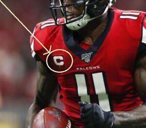2019 Atlanta Falcons Julio Jones 1-⭐-ONE-STAR CAPTAIN'S C-PATCH RED Iron-on