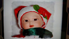 "Baby Santa Porcelain Doll / Christmas Decoration - 9"" (New)"