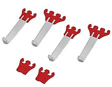 Spark Plug Pro Wire Divider Loom Valve Cover RED CHROME Chevy Ford Dodge AMC GMC