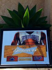 SACRAMENTO KINGS NBA BUDWEISER BEER BAR MIRROR ''NEW''