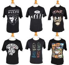 Vintage Black T-Shirts Looney Tunes Star Wars Dark Job LotWholesale x20 -Lot560