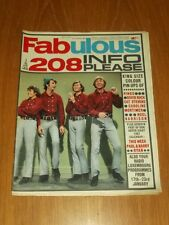 FABULOUS 208 MUSIC MAGAZINE 21ST JANUARY 1967 RINGO DAVID BUCK CAT STEVENS