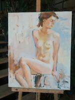 tableau huile /toile  - Jeune femme nue   - signée Alexander SHEVCHUK