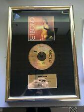 """DJ BOBO Auszeichnung (Goldene Schallplatte)  """"World in Motion"""""""