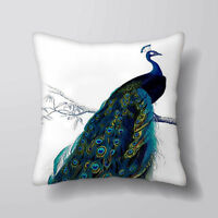 Peacock Bird - Printed Cushion Covers Pillow Cases Home Decor or Inner