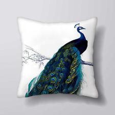 Peacock Bird - Cushion Covers Pillow Cases Home Decor Cotton Sofa