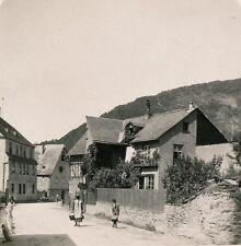 Allemagne c. 1900 - Stéréo Rue de OBERWESEL Bord du Rhin - 21