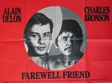 """ADIEU L'AMI (FAREWELL FRIEND)"" Affiche originale Alain DELON, Charles BRONSON"