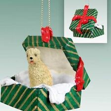 Soft Coated Wheaten Dog Green Gift Box Holiday Christmas ORNAMENT