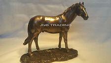 NEW Wildlife Horse Standing In Grassland Statue Figures Sculpture Bronze