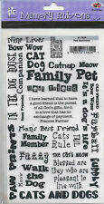 PETS SENTIMENTS PROVO CRAFT MEMORY RUB-ONS - CAT & DOG PHRASES ETC