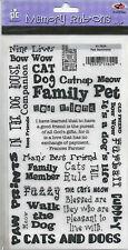 Mascotas sentimientos Provo Craft memoria Frote-Ons-Gato & Perro frases Etc