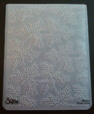 Sizzix Large Embossing Folder TRIAD LEAVES LEAF fits Cuttlebug 4.5x5.75in