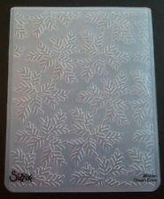 Sizzix Large 4.5x5.75in Embossing Folder TRIAD LEAVES LEAF fits Cuttlebug