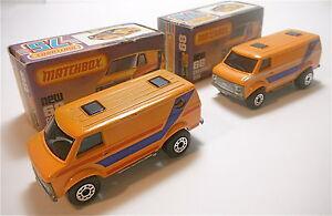 2  Vintage 1979 Matchbox Lesney Chevrolet Van # 68 Different Variations NIB
