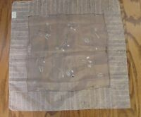 """Vintage Women's Scarf Silver Gray Organza Floral Design 20"""" x 20"""" Made In Italy"""