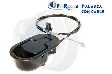 PALANCA DE SILLÓN RECLINABLE CON CABLE A ELEGIR, PARA SOFA RELAX METÁLICA NEGRA