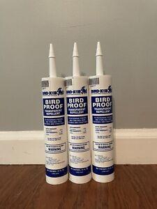 Bird-X 54-1 Bird Proof Transparent Repellent Gel-10 oz Caulking Caulk Repels