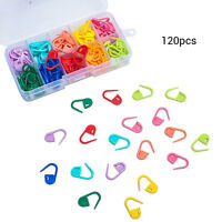 120PCS Amazing Knitting Crochet Locking Stitch Needle Clip Markers Holder Tool