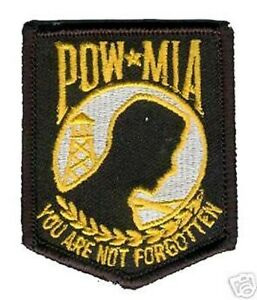 """Pow Mia Patch """" You Are Not Forgotten """" Patch Brodé"""