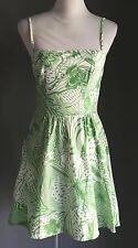 Sweetheart Quality SUPRE Green & White Floral Print Sundress Size XS 8