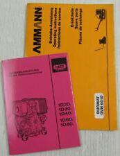 Ammann Duomat DVH6010 Betriebsanleitung Ersatzteilliste + Bedienung Hatz 1D80