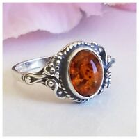 BALTIC AMBER 100% 925 STERLING SILVER RING NATURAL Honey Amber  1.8 gram SZ 5