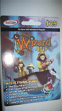 new Wizard 101 MYSTIC FISHING BUNDLE Game Card CROWNS Otter Pet Boat Mount new