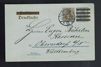 1906 Leipzig to Wurttemberg Gebruder Senfs Illustrated Germany Postcard Cover