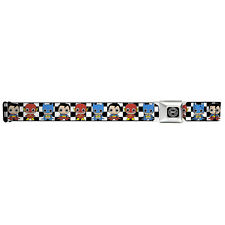 "NEW Buckle Down X DC Originals ""MINI GROUP CHECKER"" Seatbelt Belt UNISEX -SALE"