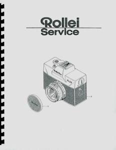 Rollei Rolleiflex SL26 Service & Repair Manual Reprint (English & German)