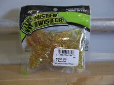 """Mr Twister 3"""" Meeny Tail chartreuse red flake 20/pack"""