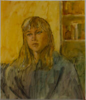 Ronald Olley (b.1923) - c. 2000 Watercolour, Portrait of a Lady with Blonde Hair