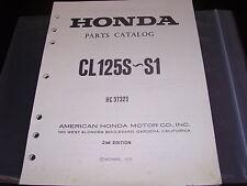 Nos Honda Oem Parts Catalog Manual 1973-1974 Cl125 S-S1